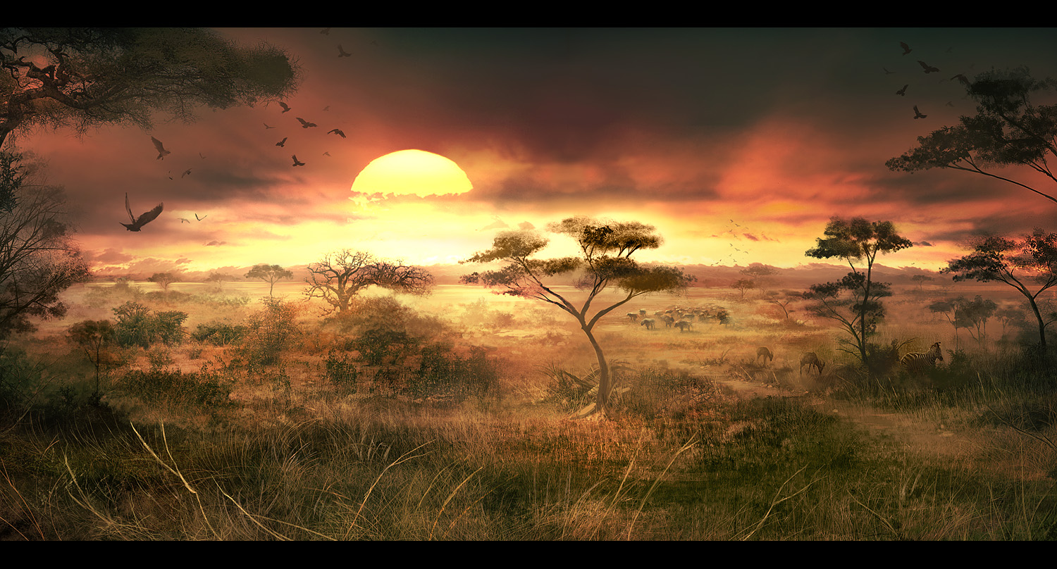 african scenery wallpaper for computer - photo #14